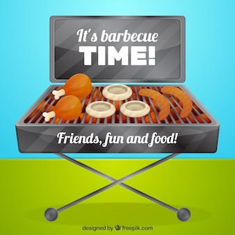 Bbq time background