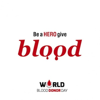 Be a hero donor day background