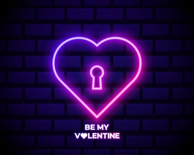 Неоновая вывеска be mine valentine o