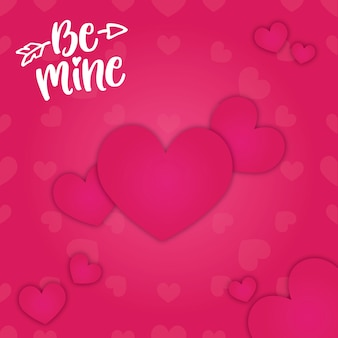 Be mine valines day background hearts