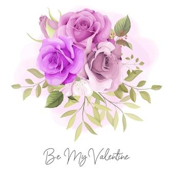 美しいバラと私のバレンタインカードになります