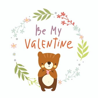 Be my valentine, greeting card