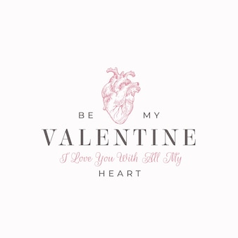 Be my valentine lettering for valentine's day