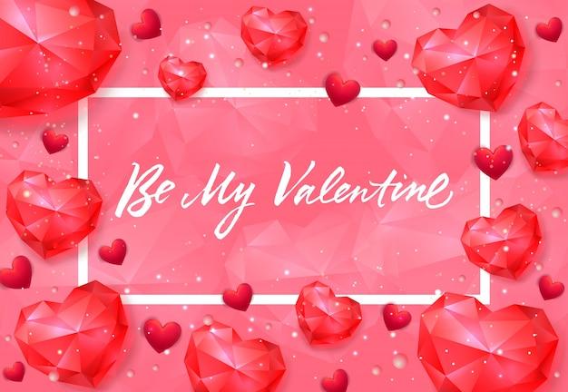 Будь моим поздравительным письмом с рубиновыми сердцами