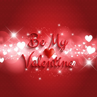 Be my valentine phrase bright background