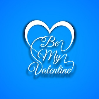 Be my valentine text in blue background