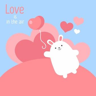 내 발렌타인이 되세요. 발렌타인 배너, 배경, 전단지, 귀여운 동물과 현수막. 스크랩북 휴일 포스터. 인사말, 장식, 축하, 초대장을위한 벡터 템플릿 카드