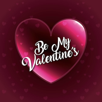 Be my valentines heart love glow falling hearts romantic