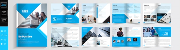 Be positive & creative concept  brochure  template.