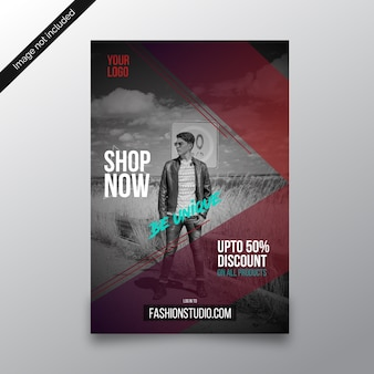 Be unique fashion store discount flyer template