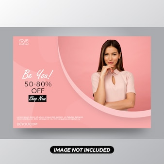 Be you discount offer banner template