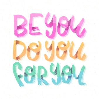 Sii il tuo amore per se stessi