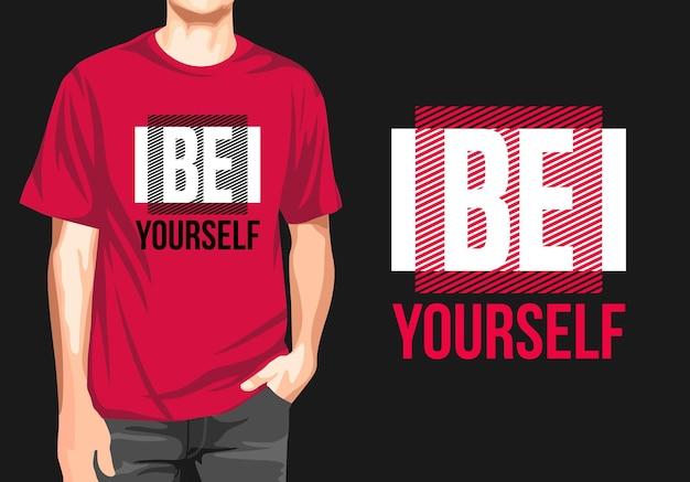 Будь собой графический дизайн футболки