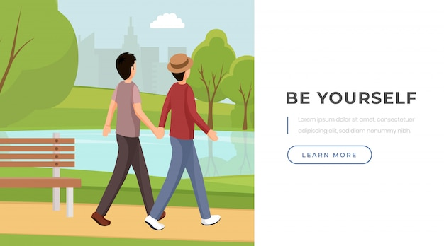 Be yourself slogan landing page template