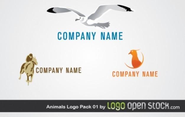 ビーチ動物映像のロゴベクトル
