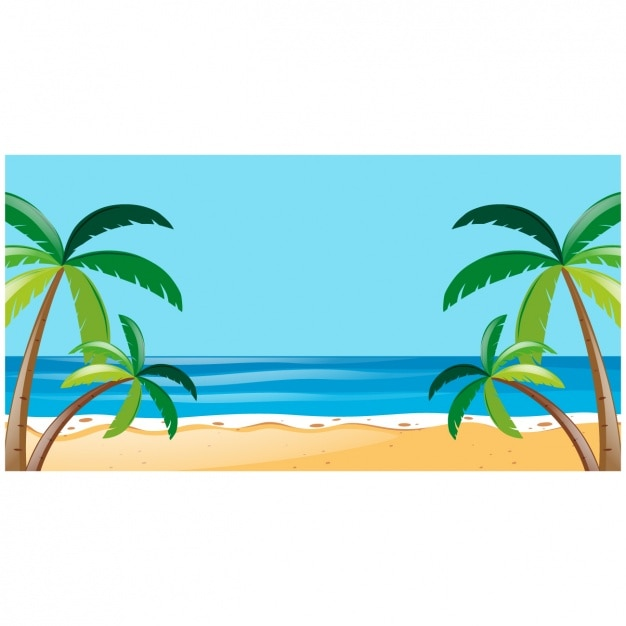 Free Beach background design SVG DXF EPS PNG - SVG Cut Files