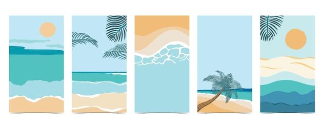 Beach background for social media with skysandsun