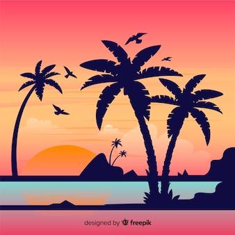 해변 배경