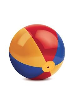 Пляжный мяч, изолированные на белом.