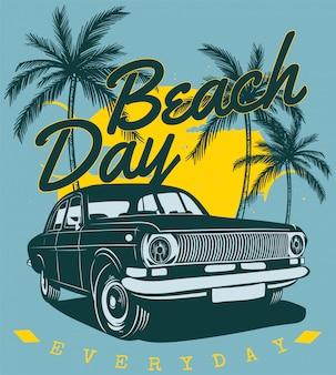 Beach and cars