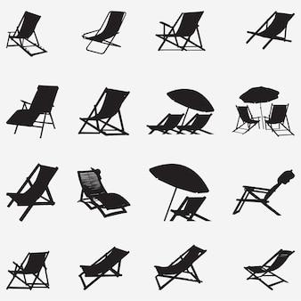 Beach chair vector design