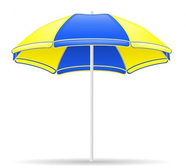 Beach color umbrella