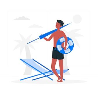 Иллюстрация концепции пляжа
