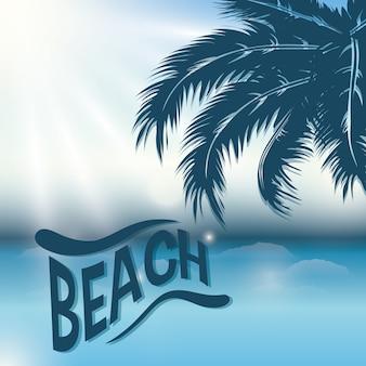 Beach concept with icon design