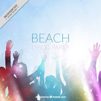Beach disco party background Free Vector