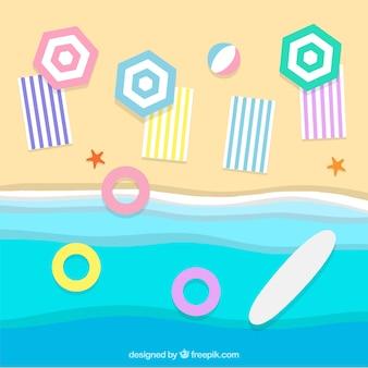 Spiaggia dallo sfondo superiore in stile carta