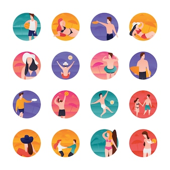 Beach fun icons