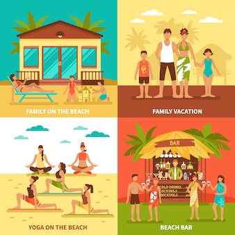Beach holiday design concept