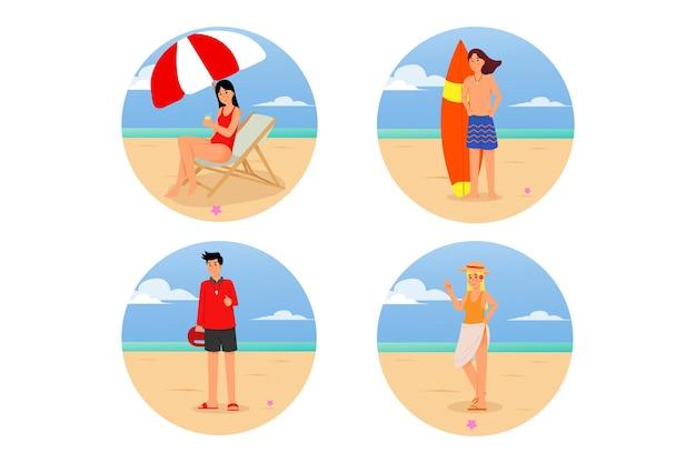 Пляжная иллюстрация