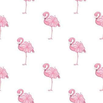 Beach image of a wallpaper with a beautiful tropic pink flamingo body of roses flowers.