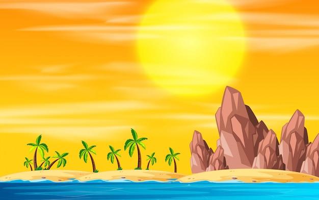A beach island landscape