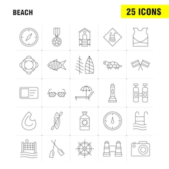 Beach line icon