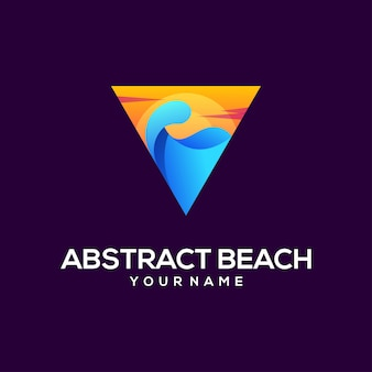 Beach logo abstract