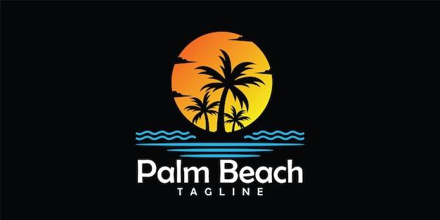 ビーチのロゴのデザインテンプレート