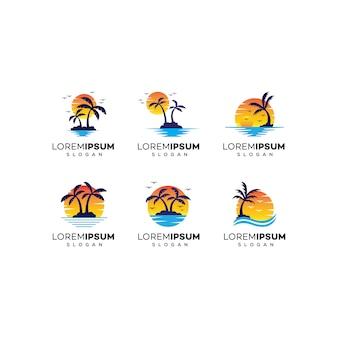 Дизайн логотипа пляжа