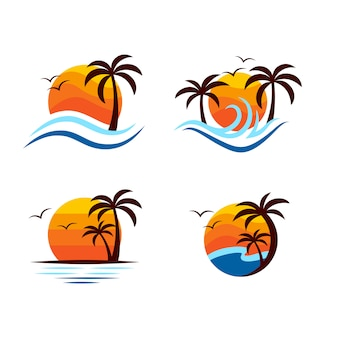 Beach logo design