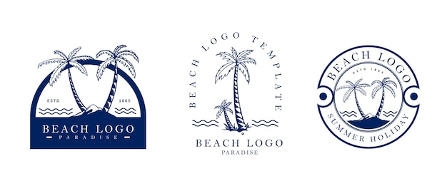 Beach logo vintage