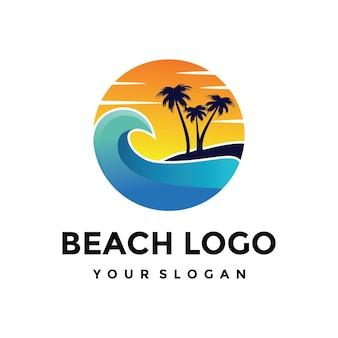 Beach logo Premium Vector