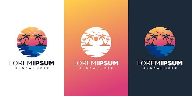 Beach modern logo template