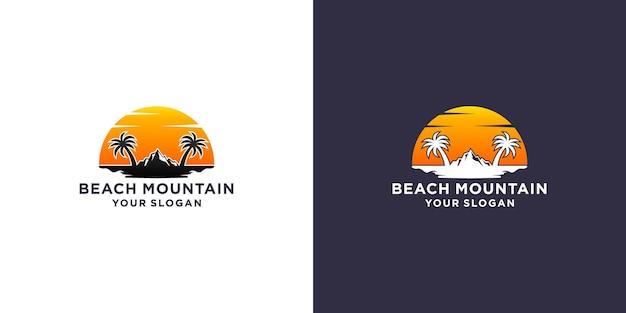 해변 산 로고