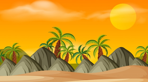 Beach outdoor wallpaper scene