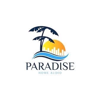Beach paradise logo
