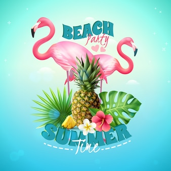 Beach party background