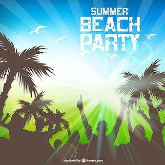Летом пляжная вечеринка бесплатный шаблон
