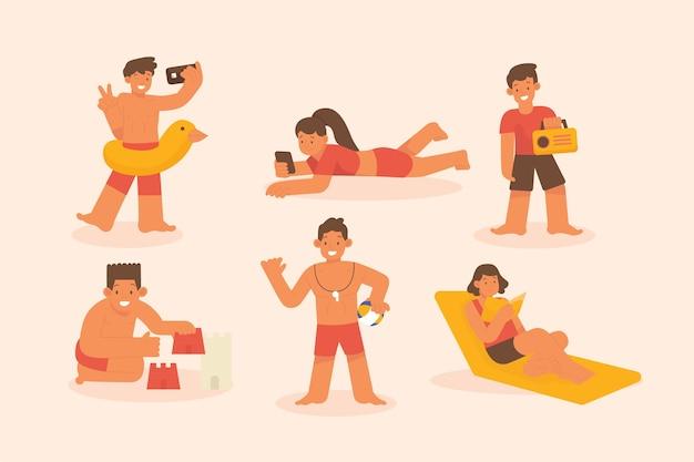 ビーチの人々のコンセプト
