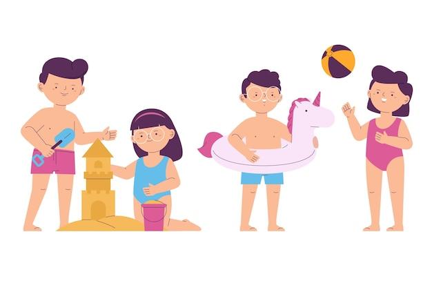 Концепция пляжных людей